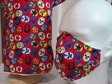 Selling: Lucha Libre Dog Outfit and Mask for MOM/DAD LUCHA LIBRE