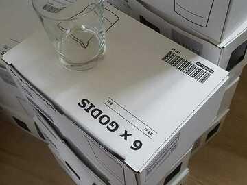 Ilmoitus: MYYDÄÄN Ikea GODIS-lasit 95 kpl. 23 cl.