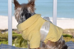 Selling: Yellow Terry Cloth Bathrobe for Dogs