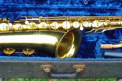 Selling with online payment: 1946 Pan American ( CONN ) 60M Tenor sax w/ case & mouthpiece