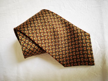 Online payment: Brown paisley tie by Michelsons of London