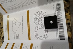 Buy Now:  1.0 ct loose diamond moissanite with certificate report