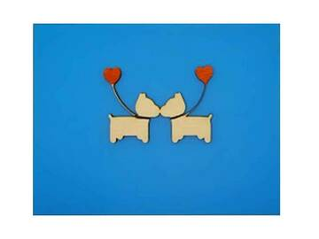 Selling: Kissing Pups Greeting Card