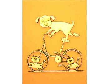 Selling: Dog on Bike Greeting Card