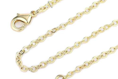 Buy Now: 72 Pcs  Cable Chains 14 kt Gold Plated in USA -18 INCH- 1.5 mm