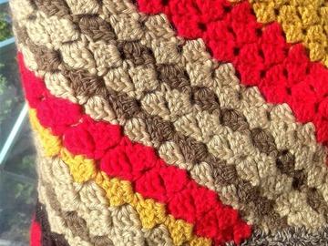 Vente au détail: Châle triangle en laine mérinos