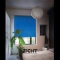 .: Blauwe rolgordijnen voor slaapkamer   Door Zicht