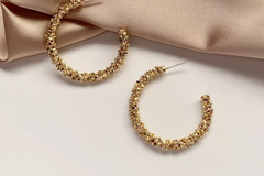 Buy Now:  New beautiful gold plated hoop earrings