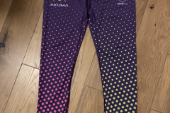 Selling with online payment: Rare - purple + pink + yellow leggings - large