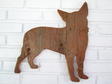 Selling: Rustic Chihuahua Reclaimed Wood Dog Wall Art