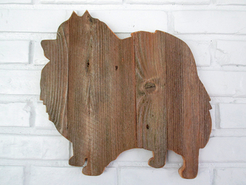 Selling: Rustic Pomeranian Reclaimed Wood Dog Wall Art