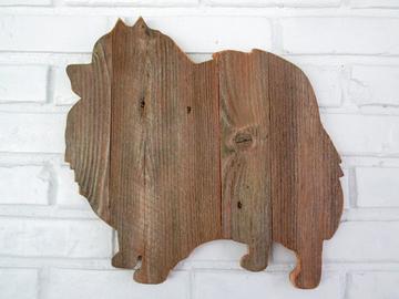 Selling: Rustic Pomeranian Reclaimed Wood Dog Wall Art