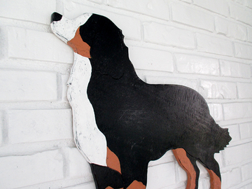 Selling: Bernese Mountain Dog Wood Dog Wall Art