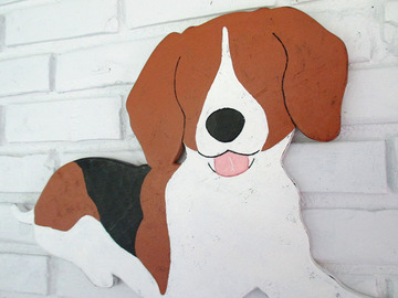 Selling: Beagle Wood Dog Wall Art