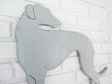 Selling: Greyhound Wood Dog Wall Art
