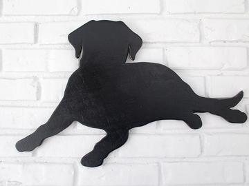 Selling: Black Lab Wood Dog Wall Art