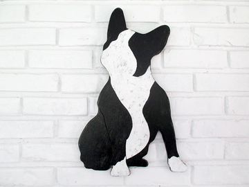 Selling: French Bulldog Boston Terrier Wood Dog Wall Art