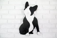 Selling: French Bulldog Boston Terrier Wood Dog Wall Art