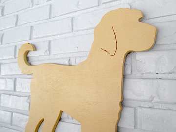 Selling: Goldendoodle Labradoodle Wood Dog Wall Art