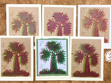 Selling with online payment: Set of 6 Holiday Palm Cards
