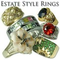 Buy Now: 5 - Sterling Silver & Vermeil Ladies Estate Rings-- $59.99