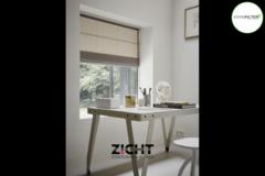 .: Vouwgordijnen voor studio   Door Zicht