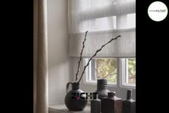 .: Vouwgordijnen voor vensterbank   Door Zicht