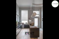 .: Vouwgordijnen voor keuken   Door Zicht