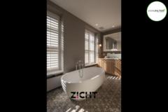 .: Shutters voor badkamer   Door Zicht