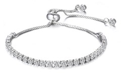 Buy Now: 50 pcs #1 BEST SELLER Swarovski Elements Tennis Slider Bracelets