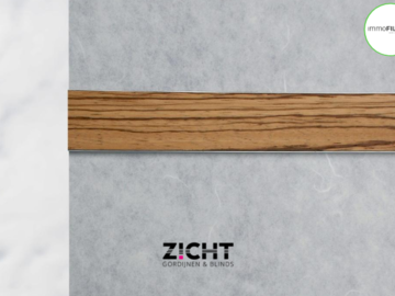 .: Paneelgordijnen met hout   Door Zicht