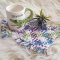 Selling with online payment: Mug Rugs Cotton Crochet Coaster Set