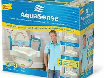 SALE: AquaSense 3-in-1 Raised Toilet Seat | Shipped Nationwide
