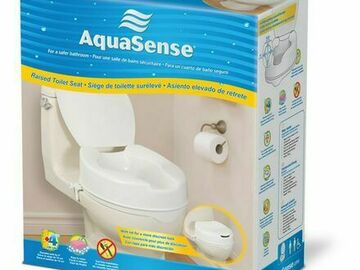 SALE: AquaSense Raised Toilet Seat with Lid | Shipped Nationwide