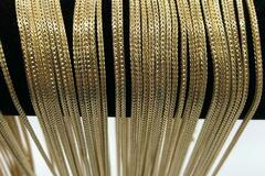 Buy Now: 50 Pcs Foxtail Chains 14 kt Gold Plated Made in USA- 18 inch