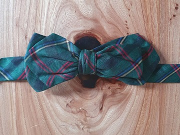 Online payment: Printed tartan silk bow tie from Façonnable