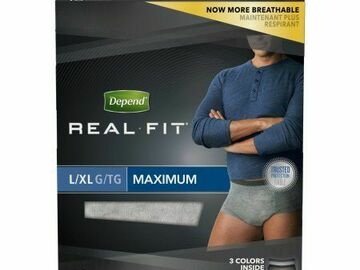 SALE: Depend Real Fit Briefs for Men Maximum Absorbency Large/X-Large