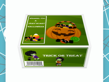 Selling with online payment: Halloween Inspired Treat Gift Box