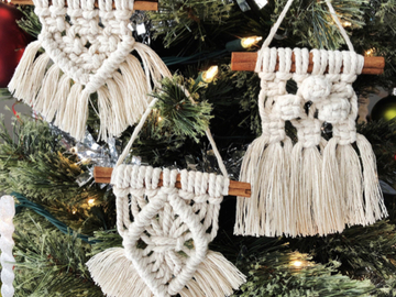 Selling with online payment: Macrame Holiday Ornaments on Cinnamon Stick