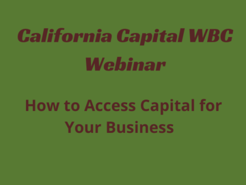 Workshop: How to Access Capital for Your Business