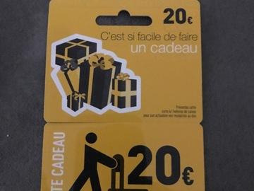 Vente: Carte cadeau Electro Dépôt (20€)