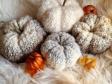 Selling with online payment:  Fall Decor Handmade Pumpkins Set of 4