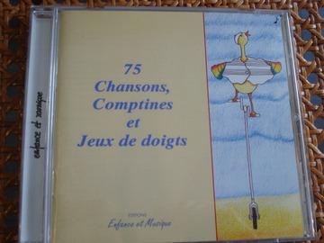 """Vente: CD """"75 Chansons,  Comptines et Jeux de doigts"""""""