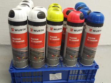 Vente: Bombes de traçage chantier fluorescentes Wurth