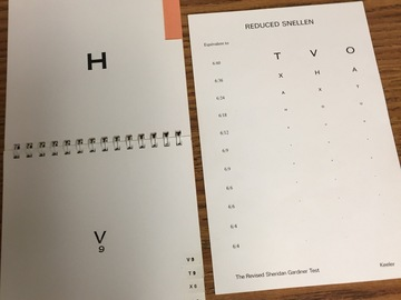 Selling with online payment: Sheridan Gardiner eye charts