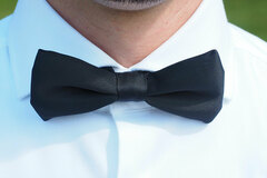 Buy Now: 120 Black Pre-Tied Banded Bow Ties