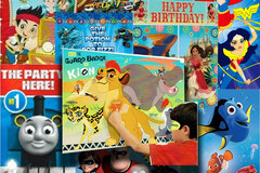 Buy Now: 130 + Kids Licensed Birthday Party Games & Wall Decorations