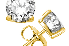 Buy Now: 2.80 CT CREATED DIAMOND 14KT SOLID GOLD EARRINGS STUD
