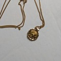 Other Item: (SOLD)24K PANDA COIN +14KT Bamboo Setting With 18kt 750  Chain 19