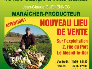 Actualité: De nos champs à votre assiette - nouveau lieu de vente